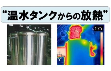 温水タンクからの放熱